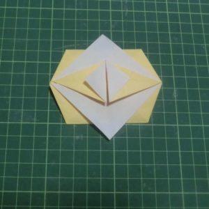 折り紙で折る「引っ張りタイプ手紙」完成しました