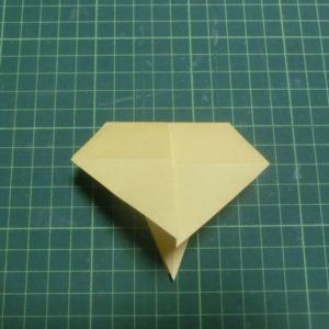 折り方手順・・・おったところ。これから開きます
