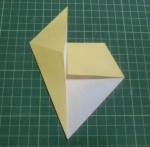 折り方手順・・・袋を開いた状態です