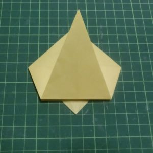 折り方手順・・・折り目を付けるだけです