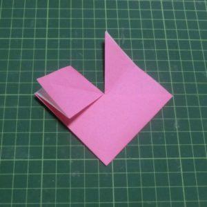 ハートの折り方説明・・・袋をひらいた状態です