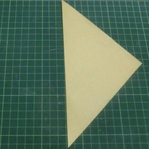 折り方手順・・・縦半分三角に折ります