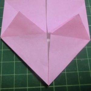 ハート付き手紙の折り方・・・ハートの部分が出来上がりました