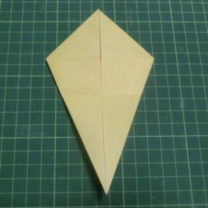 折り方手順・・・折り目をつけて戻します