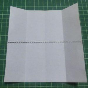 ハート付き手紙の折り方・・・開いて90度回転しました