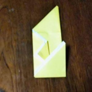 アレンジポチ袋の折り方・・・前で上下に折ります