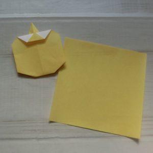 鬼の体の折り方・・・体も折り紙1枚使います