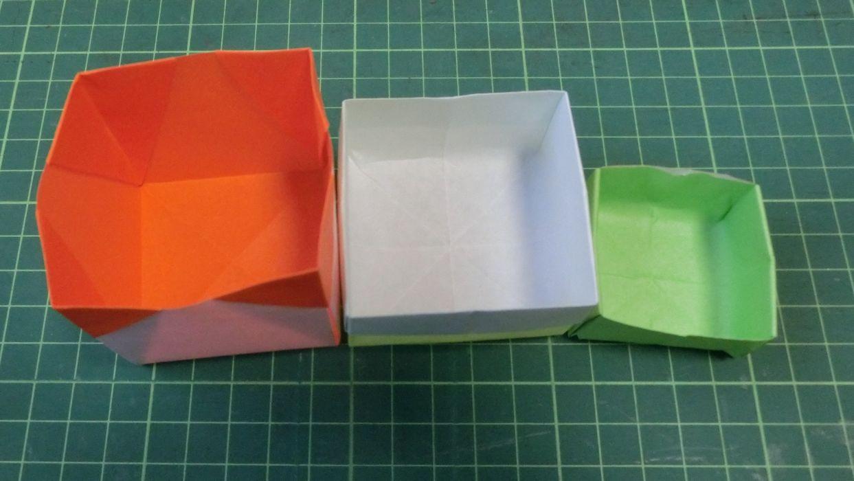 正方形 折り紙 箱